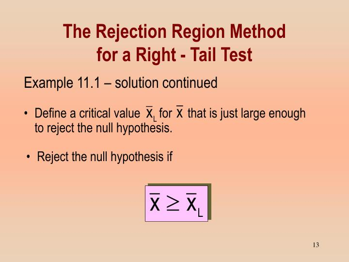 Reject the null hypothesis if