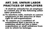 art 248 unfair labor practices of employers