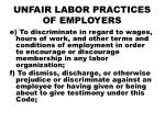unfair labor practices of employers1