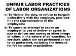 unfair labor practices of labor organizations1