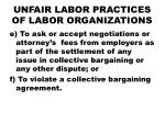 unfair labor practices of labor organizations2