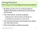 coming attractions the future of cloud based communications