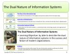 the dual nature of information systems