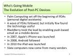 who s going mobile the evolution of post pc devices