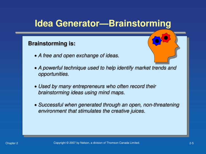 Idea Generator—Brainstorming