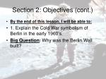 section 2 objectives cont