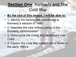 section one kennedy and the cold war