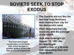 soviets seek to stop exodus