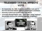 televised debate affects vote