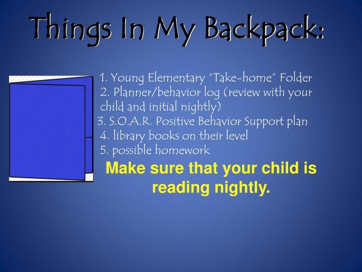 Things In My Backpack: