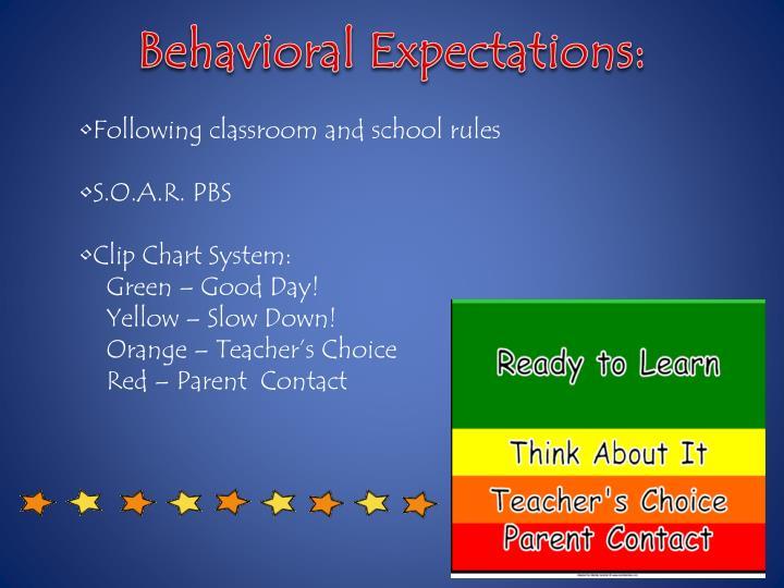 Behavioral Expectations: