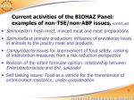 current activities of the biohaz panel examples of non tse non abp issues continued