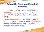scientific panel on biological hazards