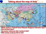 talking about the map of asia