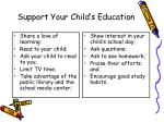 support your child s education