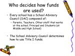 who decides how funds are used
