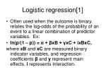 logistic regression 1