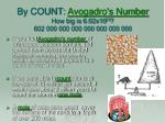 by count avogadro s number how big is 6 02x10 23 602 000 000 000 000 000 000 000