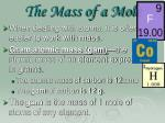 the mass of a mole