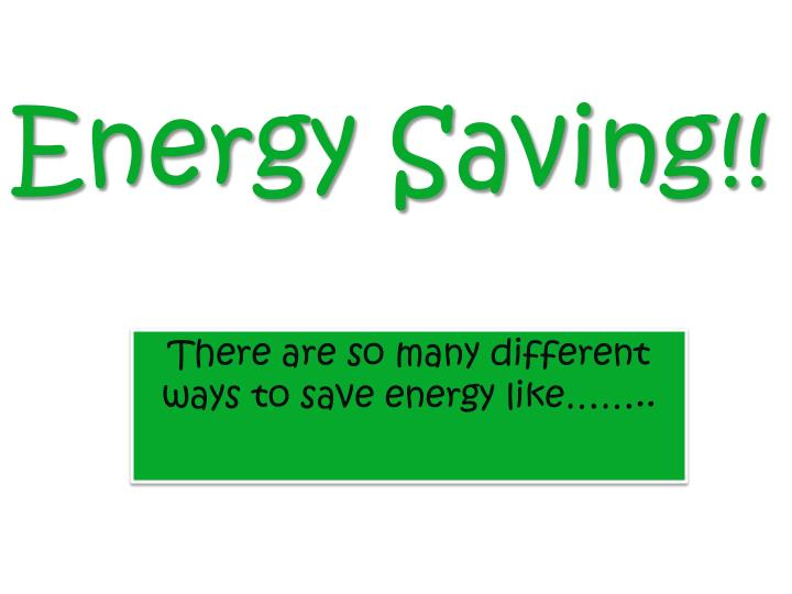 energy saving n.