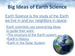 big ideas of earth science