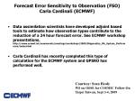 forecast error sensitivity to observation fso carla cardinali ecmwf