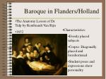 baroque in flanders holland