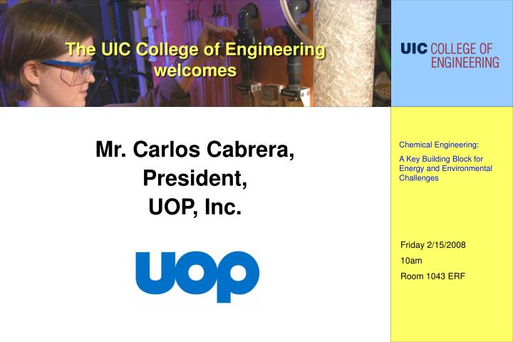 the uic college of engineering welcomes n.