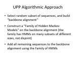 upp algorithmic approach