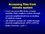 accessing files from remote system