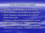 after buddha s death