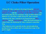 lc choke filter operation