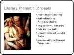 literary thematic concepts1