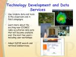 technology development and data services