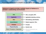 applying defense in depth to increase security
