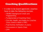 coaching qualifications