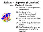 judicial supreme 9 justices and federal courts