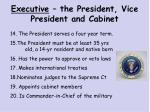 executive the president vice president and cabinet