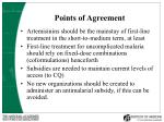points of agreement