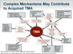 complex mechanisms may contribute to acquired tma