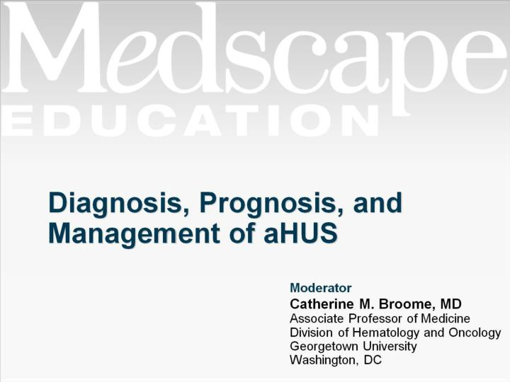 diagnosis prognosis and management of ahus n.