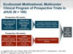 eculizumab multinational multicenter clinical program of prospective trials in ahus n 100