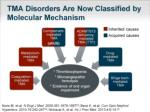 tma disorders are now classified by molecular mechanism
