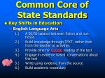 common core of state standards