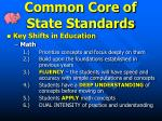common core of state standards1