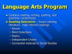 language arts program