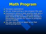 math program