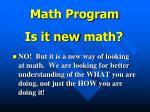 math program1