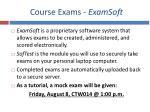 course exams examsoft