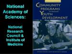 national academy of sciences national research council institute of medicine